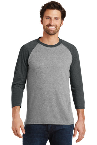 District Made® Mens Perfect Tri® 3/4-Sleeve Raglan - DM136