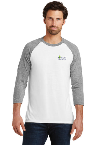 District Made® Mens Perfect Tri® 3/4-Sleeve Raglan
