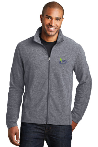 Port Authority® Heather Microfleece Full-Zip Jacket - F235