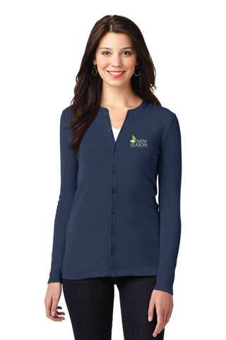Port Authority® Ladies Concept Stretch Button-Front Cardigan - LM1008