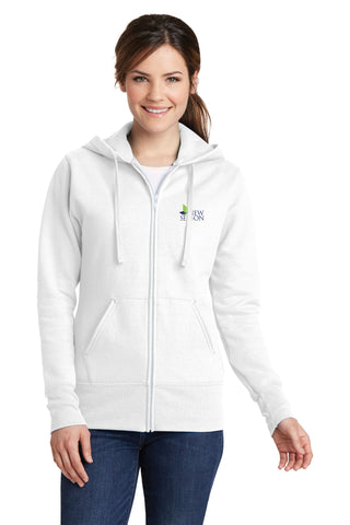 Port & Company® Ladies Classic Full-Zip Hooded Sweatshirt - LPC78ZH