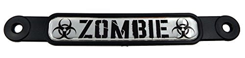 Zombie Emblem Screw On Car License Plate Decal Badge