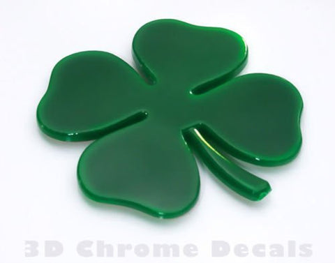 Clover 4 Leaf Irish Plastic Car Auto Decal Sticker shamrock ireland symbol