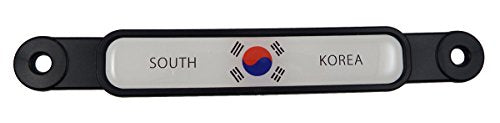 Korea South Korean Flag Emblem Screw On Car License Plate Decal Badge