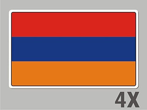 4 Armenia stickers flag decal bumper car bike emblem vinyl FL003