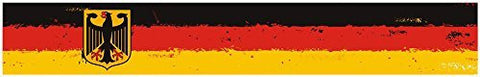 "24"" Vinyl trim Germany German flag strip sticker decals hood bumper car bike"