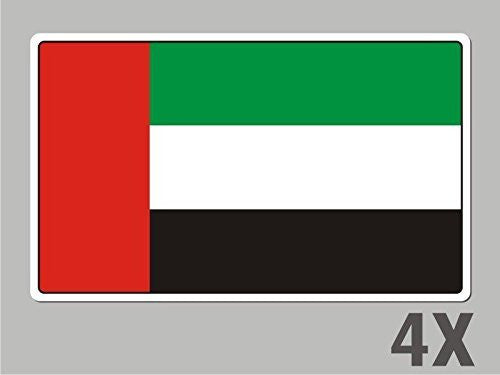4 UAE United Arab Emirats stickers flag decal bumper car bike emblem vinyl FL065
