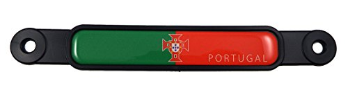 Portugal Portuguese Flag Emblem Screw On Car License Plate Decal Badge