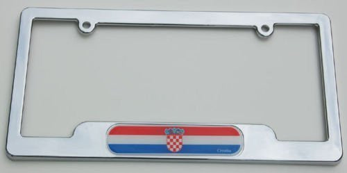 Croatia Chrome License Plate Frame Holder 3D Decal Free caps