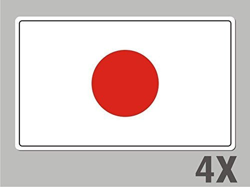 4 Japan stickers flag decal bumper car bike laptop .. emblem vinyl FL033