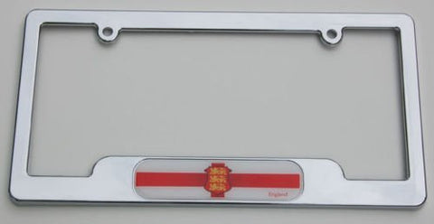England Chrome plated ABS License Plate Frame holder cover with free caps