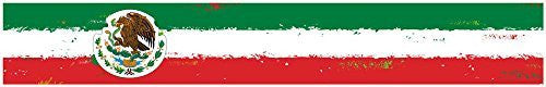 "24"" Vinyl trim Mexico Mexican flag strip sticker decals hood bumper car"