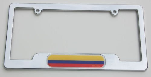 Colombia Durable ABS plastic Chrome Plated License Plate Frame with caps