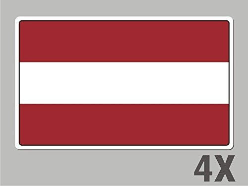 4 Latvia stickers flag decal bumper car bike laptop .. emblem vinyl FL037