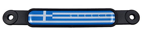Greece Greek Flag Screw On License Plate Emblem Car Decal Badge