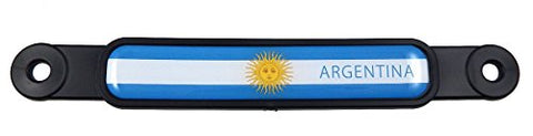 Argentina Argentinian Flag Screw On License Plate Emblem Car Decal Badge