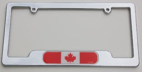 Car Chrome Decals LPFC037 Canada Chrome License Plate Frame Canadian 3D Decal