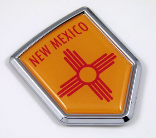New Mexico NM USA State Flag Car Chrome Emblem Decal Sticker bike laptop boat 3dd Sticker badge