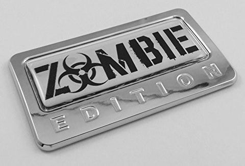 Car Chrome Decals CBEDI-ZOMBIE Zombie Edition Chrome Emblem with domed decal Car Auto motorcycle bike Badge