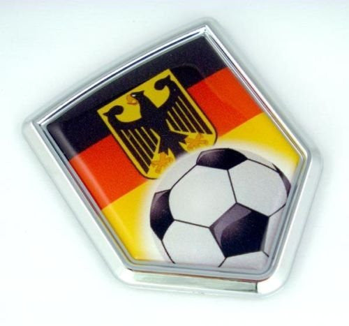 Soccer German Decal Germany Flag Car Chrome Emblem Sticker Deutschland