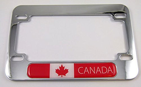 Canada flag Motorcycle Bike ABS Chrome Plated License Plate Frame