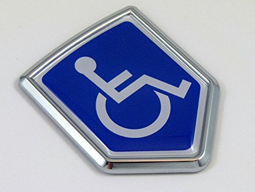 Handicapped Decal Car Chrome Emblem Sticker badge sign crest Bike Auto