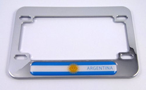 Argentina flag Motorcycle Bike ABS Chrome Plated License Plate Frame Emblem
