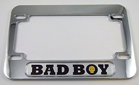 Bad Boy Motorcycle Bike ABS Chrome Plated License Plate Frame