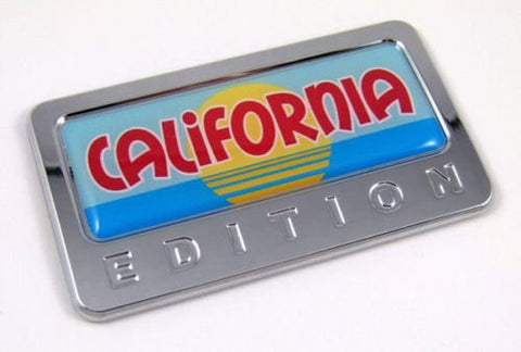 Car Chrome Decals CBEDI-CALIF California USA State custom Edition Chrome Emblem with domed decal Car Auto Bike