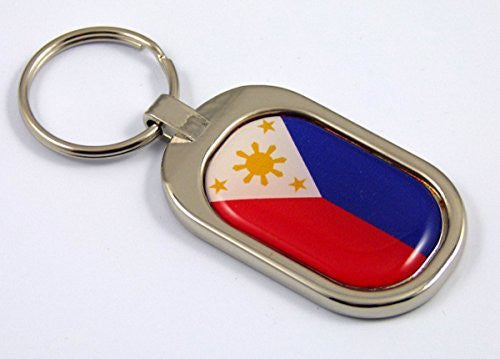 Philippines Flag Key Chain metal chrome plated keychain key fob keyfob