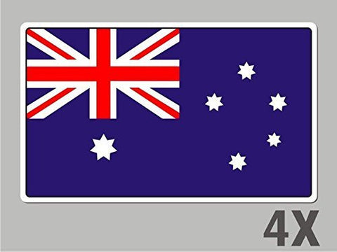 4 Australia stickers flag decal bumper car bike emblem vinyl FL004