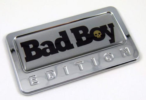 Car Chrome Decals CBEDI-BADBOY Bad Boy custom Edition Chrome Emblem with domed decal c/w adhesive Car Auto