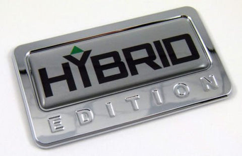 Car Chrome Decals CBEDI-HYBR Hybrid custom Edition Chrome Emblem with domed decal Car Auto Bike Badge