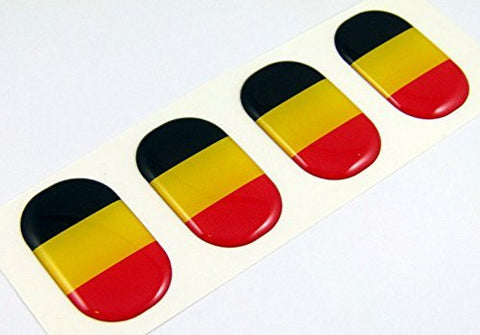 "Belgium midi domed decals flag 4 emblems 1.5"" Car bike laptop phone stickers"