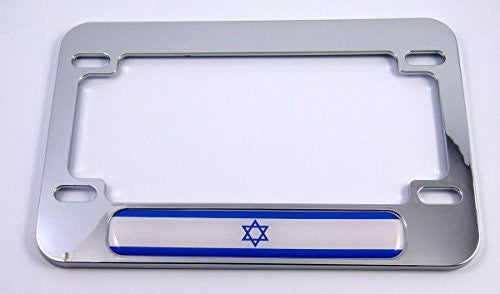 Israel Israeli flag Motorcycle Bike ABS Chrome Plated License Plate Frame