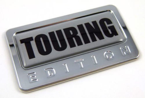 Car Chrome Decals CBEDI-TOURIN Touring special Edition Car Chrome Emblem with domed decal Bike Auto Badge 3D
