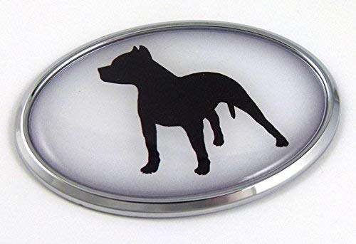 Pit Bull Dog Breeds 3D Chrome Emblem Pet Decal Car Auto Bike Truck Sticker