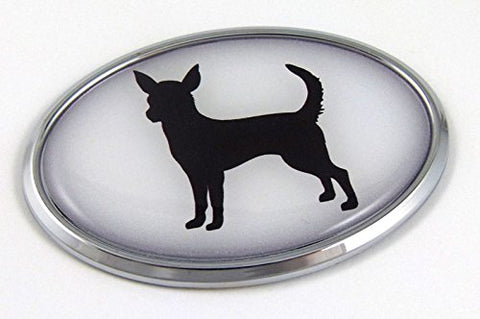 Chihuahua Dog Breeds 3D Chrome Emblem Pet Decal Car Auto Bike Truck Sticker