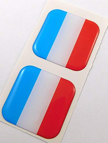 "Netherlands Flag Square Domed Decal car Bike Gel Stickers 1.5"" 2pc"