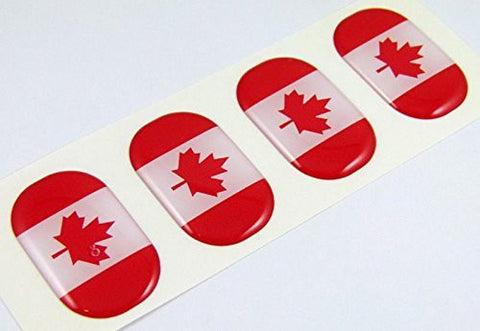 "Canada midi domed decals flag 4 emblems 1.5"" Car bike laptop phone stickers"