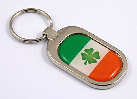 Ireland Flag Key Chain metal chrome plated keychain key fob keyfob Irish