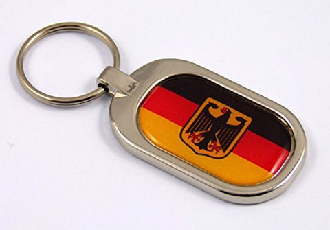 Germany Flag Key Chain metal chrome plated keychain key fob keyfob german