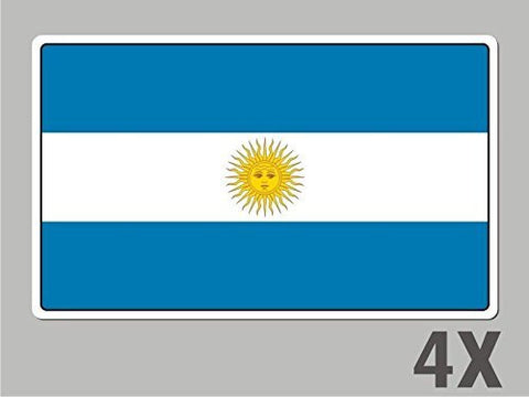 4 Argentina stickers flag decal bumper car bike emblem vinyl FL002