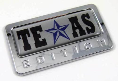 Car Chrome Decals CBEDI-TEXAS Texas Edition Car Chrome Emblem with dome decal Auto truck Bike 3D Badge USA