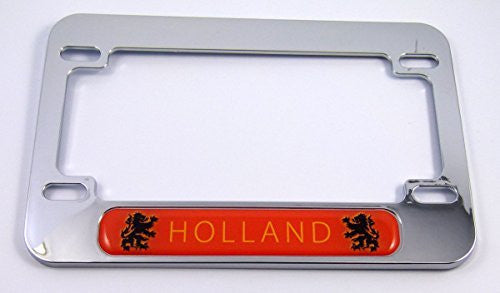 Holland flag Motorcycle Bike ABS Chrome Plated License Plate Frame Netherlands