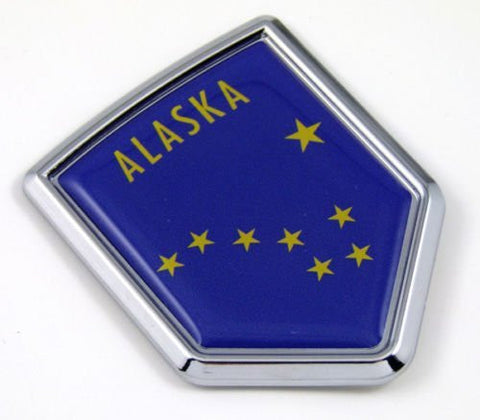 Alaska AK USA State Flag Car Chrome Emblem Decal Sticker bike laptop boat 3dd Sticker badge