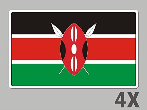 4 Kenya stickers flag decal bumper car bike laptop .. emblem vinyl FL036