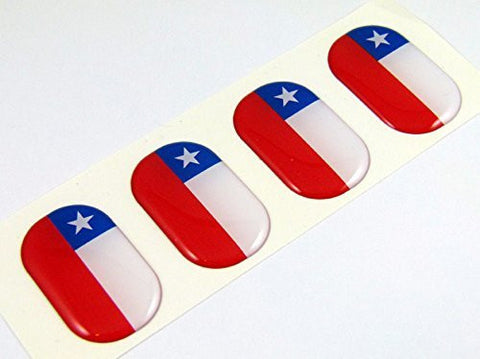 "Chile midi Chilean domed decals flag 4 emblems 1.5"" Car bike laptop stickers"