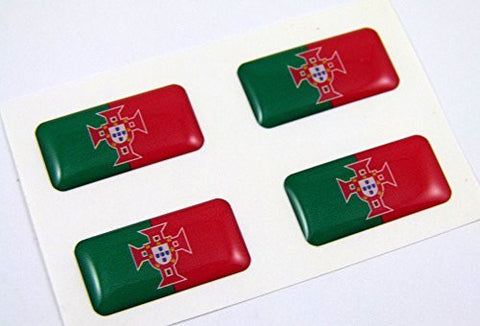 Portugal mini domed decals set 4 emblems Portugese Car bike boat... stickers