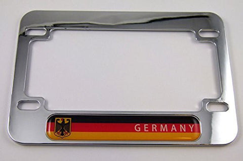 Germany Deutschland Flag Motorcycle Bike ABS Chrome Plated License Plate Frame